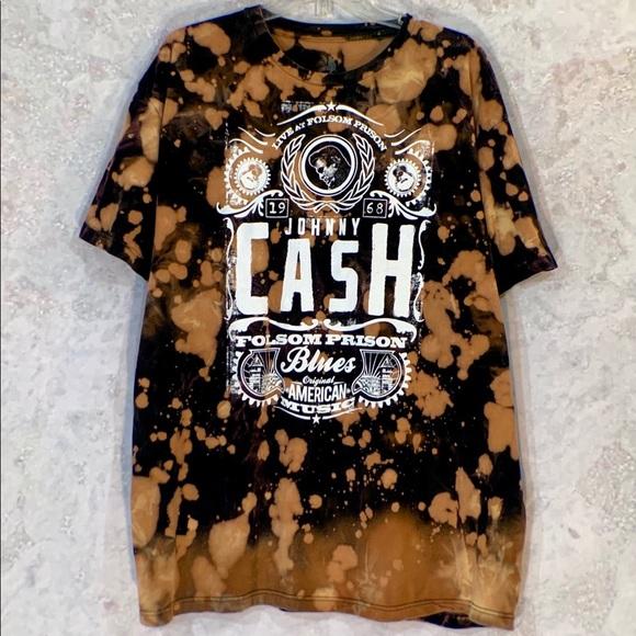 7a5e8581b9de2 Bleach *JOHNNY CASH* tie dye grunge band tshirt